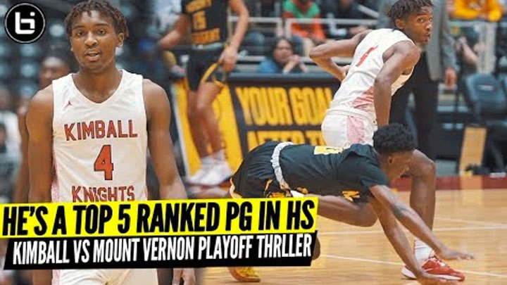 See Why Every College Coach Is Recruiting Arterio Morris! Dallas Kimball VS Mount Vernon