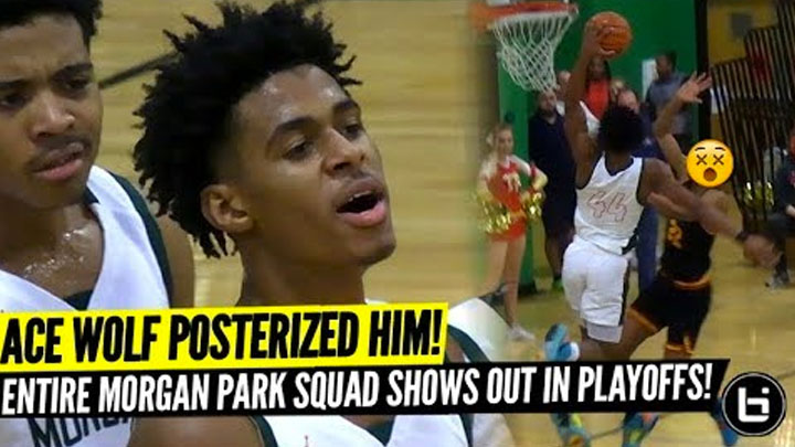 Adam Miller POSTERIZES DEFENDER! ACE WOLF and Morgan Park SHOW OUT in State Tournament!