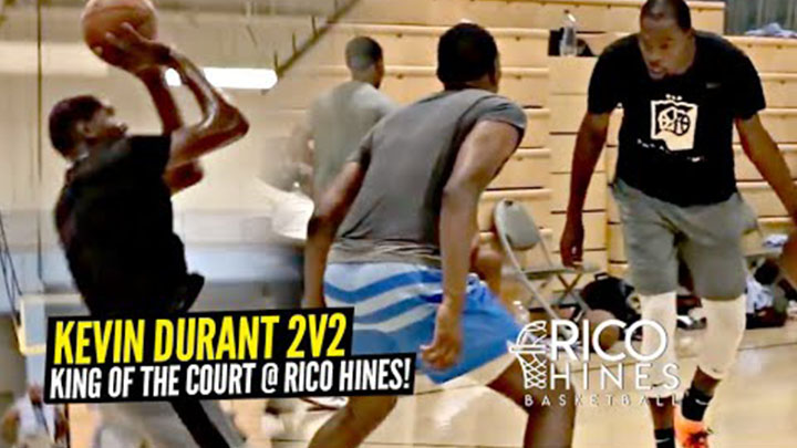 Kevin Durant 2v2 King of The Court vs NBA Pros! KD Puts On a Clinic at Rico Hines!