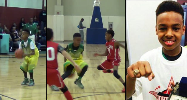 422d7140031 10yo LeBron James Jr Wins Championship at John Lucas All-Star Weekend Event