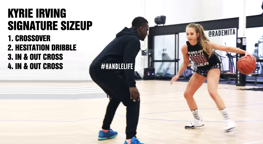 timeless design 4f96e 19e58 Rachel DeMita   Dribble2Much Show You How To Do Kyrie Irving s Signature  Sizeup