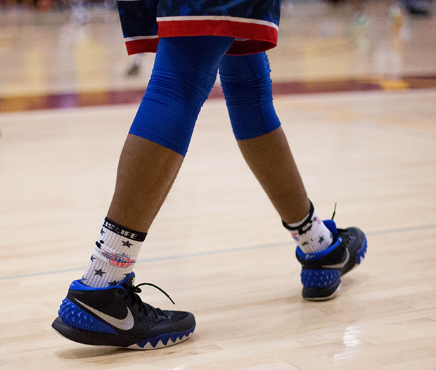 new product 04aca 527e9 kyrie 1 independence day on feet