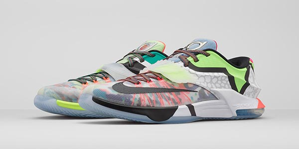 "new concept f3197 78c7b Nike KD 7 SE ""What The"" Multi Color Black Horizon 801778-944. June 20, 2015"