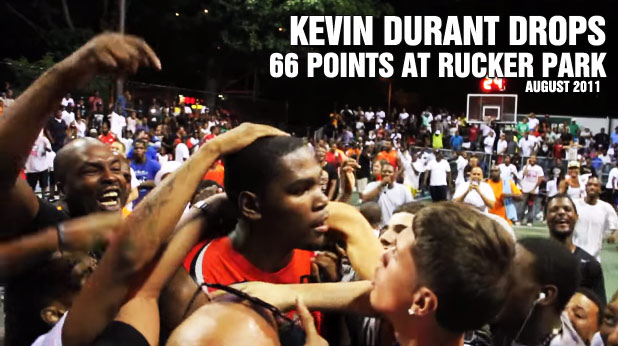 1283bf1a88e4 Remembering When Kevin Durant dropped 66 points at Rucker Park Because Of A  Plate of Soul