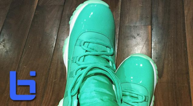 "check out fbc10 457b4 Air Jordan XI ""Emerald"" 