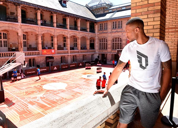 best website db040 3f06f ... promotes summer vibes  the design of the court has European accents  throughout while also is placed inside a courtyard. Adidas… thats one hell  of a ...
