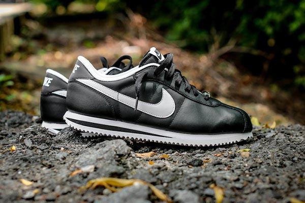 NIke Cortez Basic Leather Black White - Ballislife.com 75a1846db