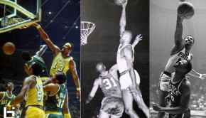 Bill Russell jumps OVER a defender from near the free ...