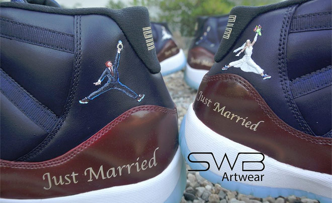 best sneakers 24e31 7374c Awesome Custom Jordans For Just Married Couple