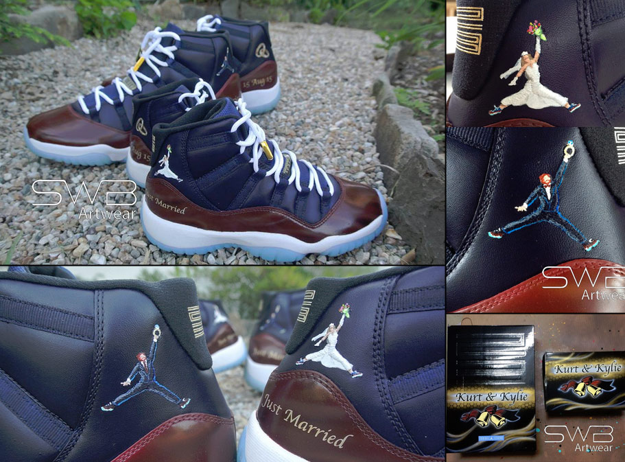 arriving new high available Awesome Custom Jordans For Just Married Couple - Ballislife.com