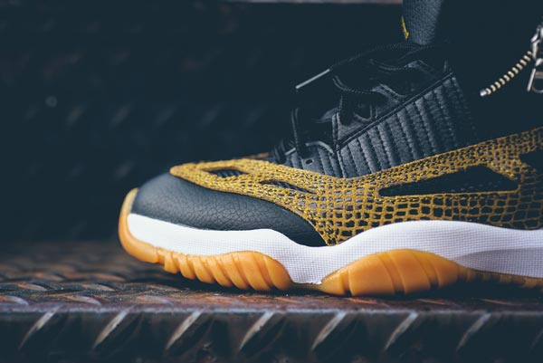 317708acf0c6 The most recent to receive the snakeskin coat is the Air Jordan 11 IE low.  Of all the posts these stills from Sneaker Politics ...