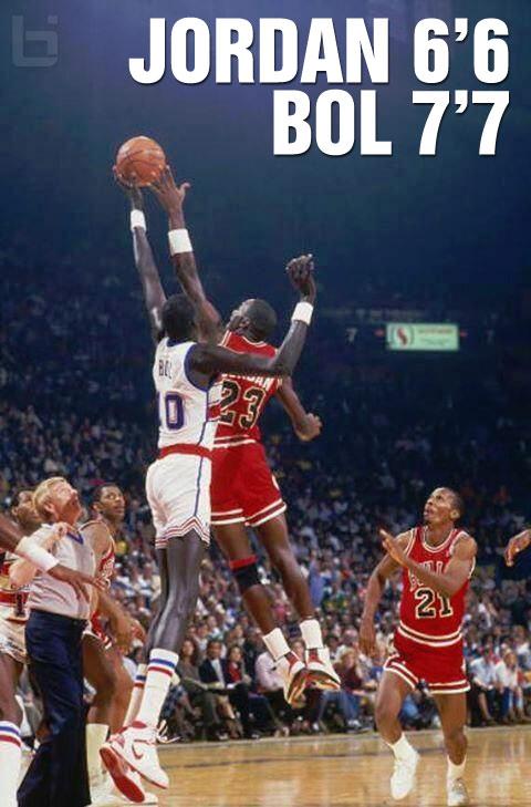 Michael Jordan Vs Manute Bol Moments Ballislife Com