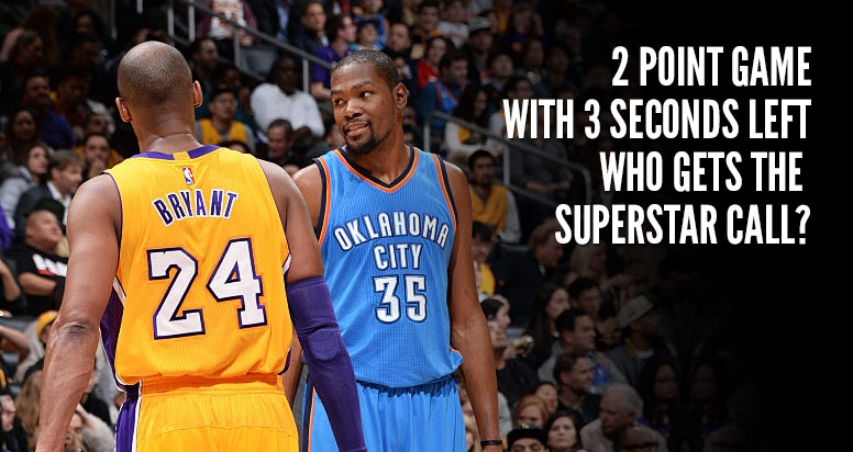 hot sale online 30b56 b7104 Kobe Bryant vs Kevin Durant Duel, Was Kobe Fouled At The End