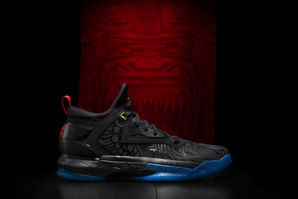 new styles 0937d 431ef The D Lillard 2 features a fanged fire monkey graphic print treated with a  gloss finish. Designed with an all-black upper, the silhouette is  constructed ...