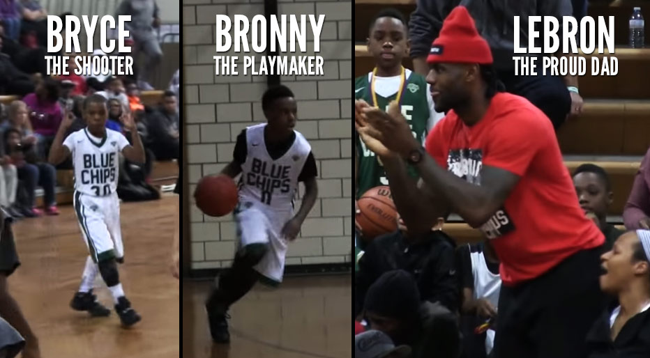new style 04ca9 11843 LeBron James Jr & Brother Bryce Maximus Put On A Show In ...