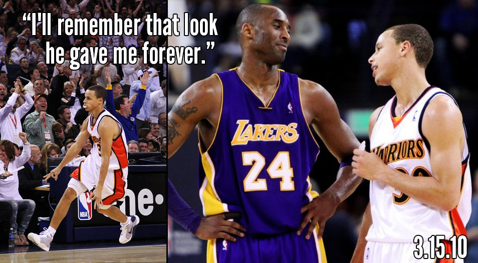 "7fc7b09b5e97 Steph Curry Talks About The Day Kobe Bryant Gave Him The ""You Dumb Rookie"""