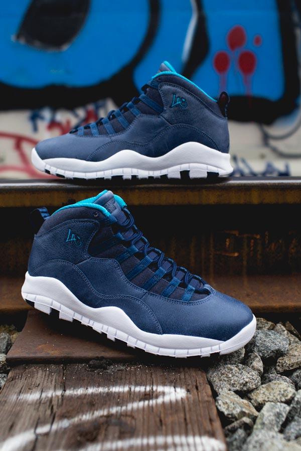 """afb4a60f2a0c36 The Air Jordan Retro 10 """"Los Angeles"""" City Pack - Ballislife.com"""