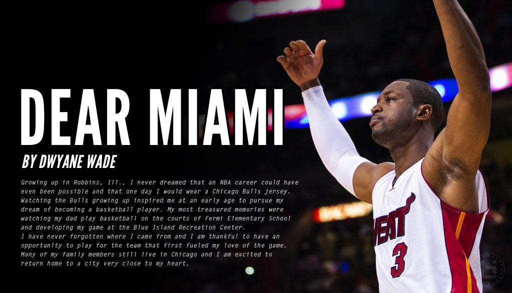 the best attitude dee01 df2ec Dwyane Wade's Emotional Letter To Heat Fans - Ballislife.com