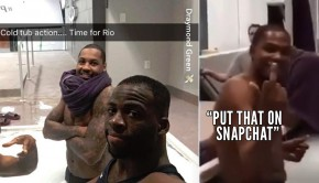 "40a0614bb9b Kevin Durant Flips Bird At Draymond Green   Says ""Put That On Snapchat"""