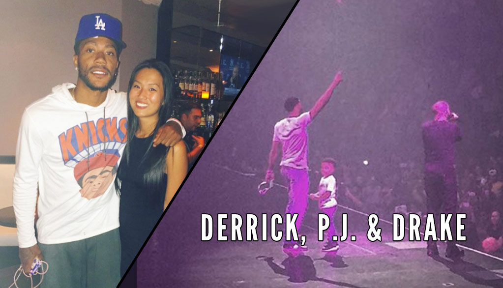 5aadfd273ad Derrick Rose   Son Join Drake on Stage During MSG Concert