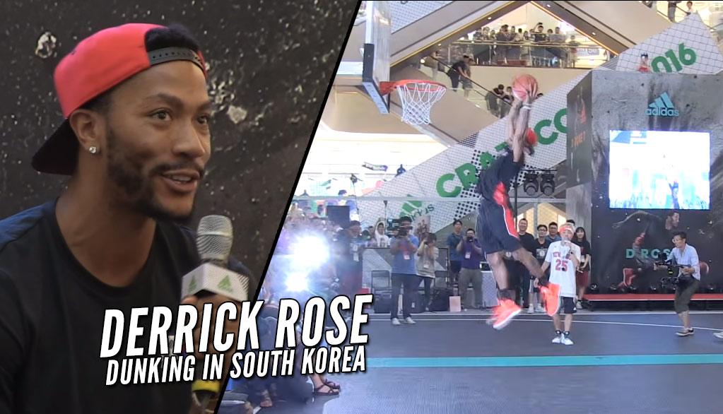 1cccab4745b Derrick Rose Dunking In Korea
