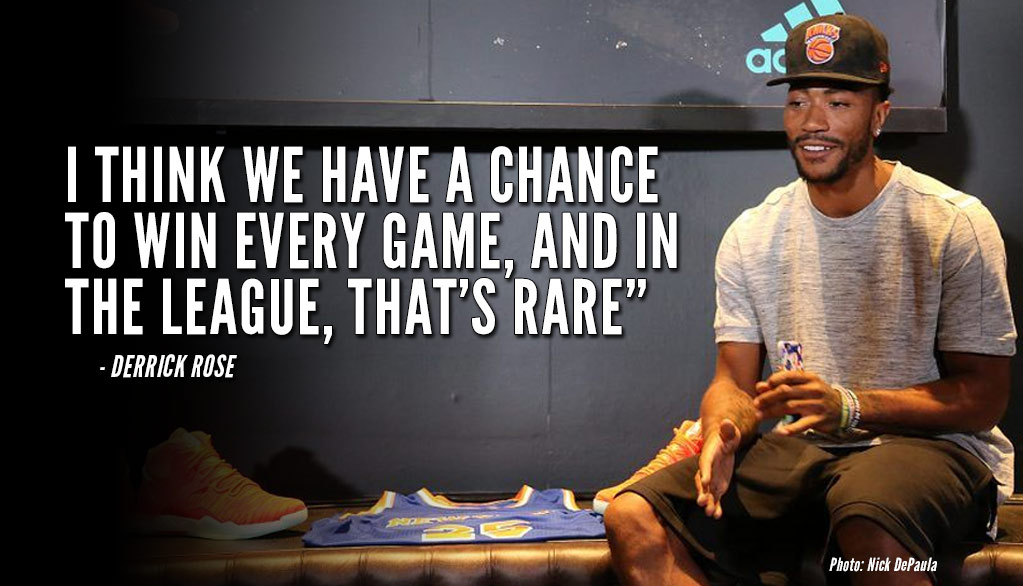 """e8c4367b2f6 Derrick Rose Says Knicks """"Have A Chance To Win Every Game ..."""