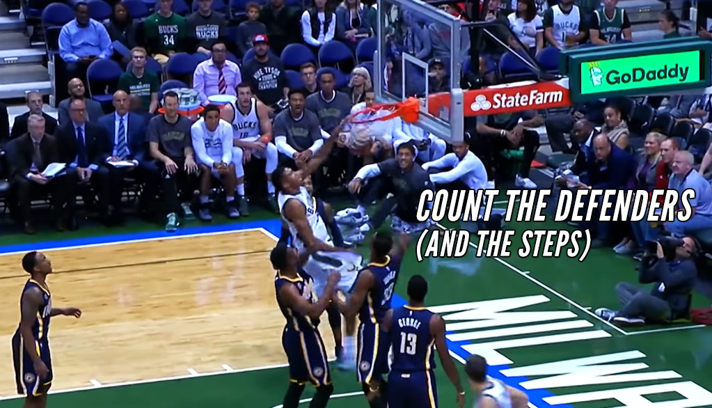 Giannis Antetokounmpo Gets Away With A Travel, Dunks ...