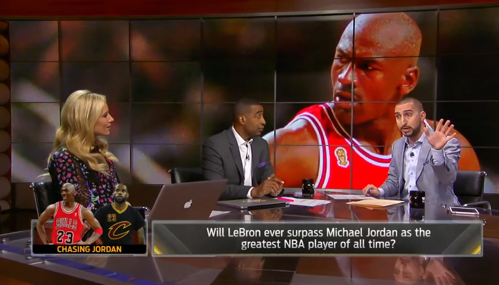 "ec912d80e1e9 Nick Wright Says LeBron Has Passed Kobe   ""We Lie About What Michael Jordan  Did"