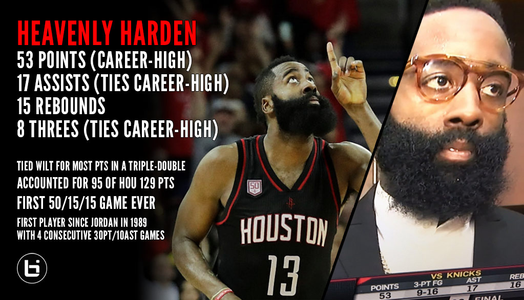 fb5d51ff6d21 James Harden Blessed Us With One Of The Greatest Stat Lines In NBA ...