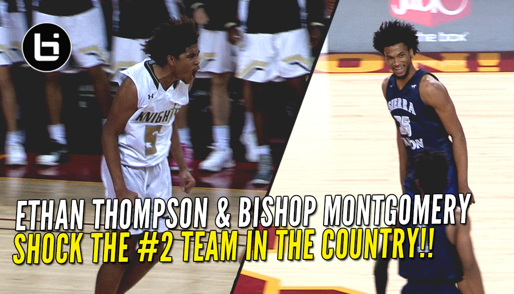 0ba656c0ac9 Marvin Bagley And Sierra Canyon Fall to Ethan Thompson Led Bishop Montgomery !