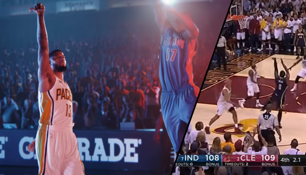 Paul George Takes   Makes A Game-Winning Shot In New Gatorade Ad ... e50b18ce913f
