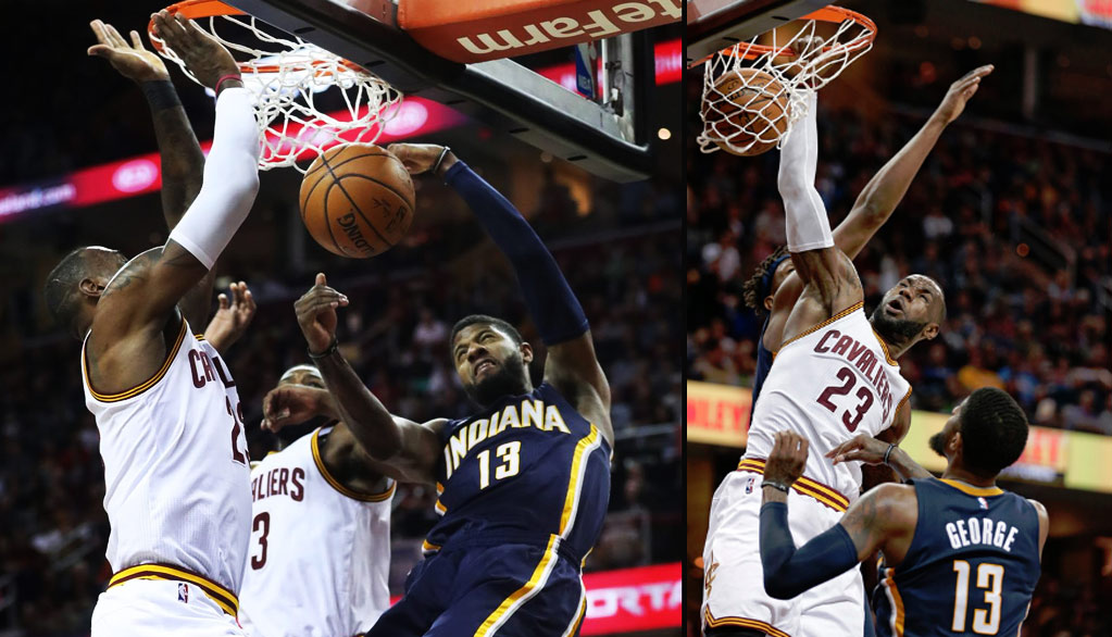 ae5736b2409 Paul George   LeBron James Duel   Dunk On Each Other Like It Was 2013