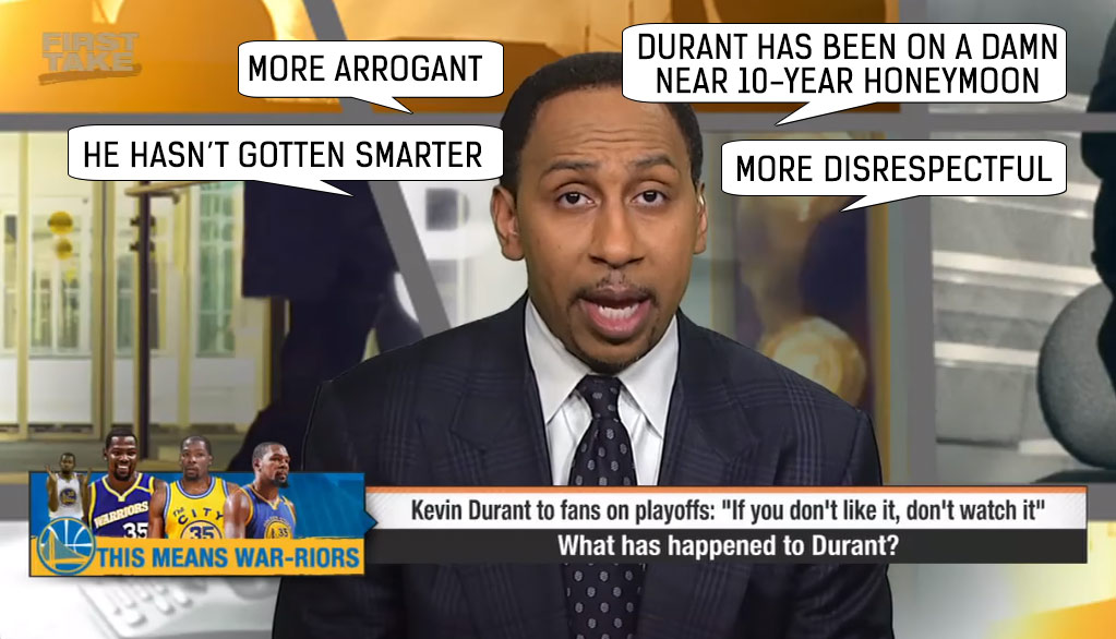 a52ea7f4f303 Stephen A. Smith vs Kevin Durant Beef Timeline (2015-2017) Here s ...