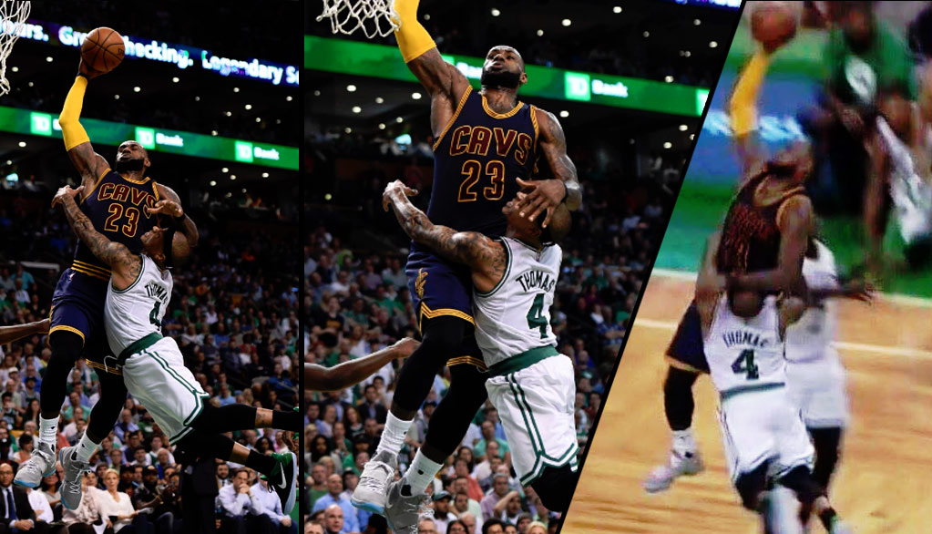5104ee99cf1 LeBron   Isaiah Thomas Tried To Recreate LeBron s Dunk On Jason ...
