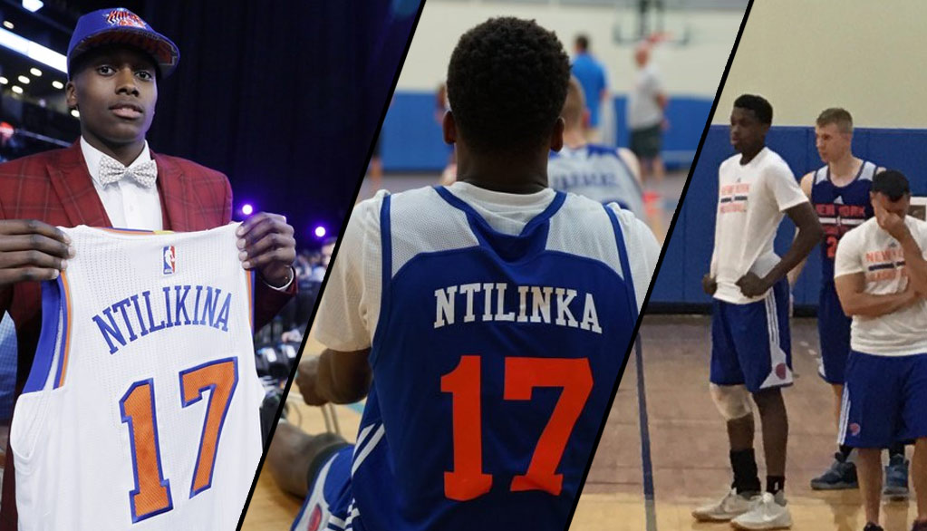 innovative design ff76a e943e Knicks 8th Pick Frank Ntilikina Leaves Practice With Injured ...