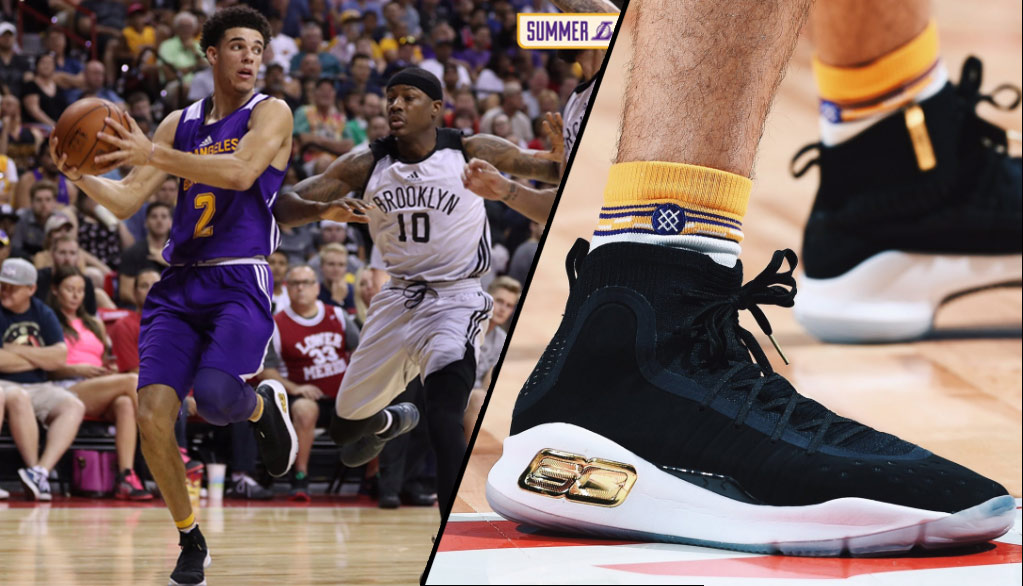1bf394f8501d Lonzo Ball Flirts With Triple-Double Wearing Steph Curry Shoes (Iversons  Next )