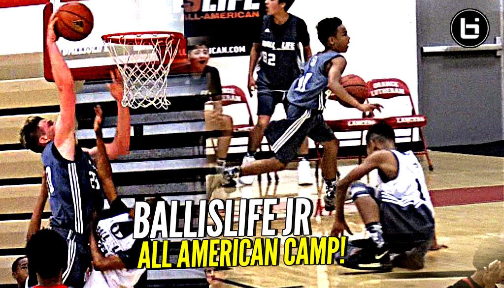 4cda0df70f0 Middle Schoolers BREAKING ANKLES   Getting Buckets! Ballislife Jr All  American Camp Mixtape!
