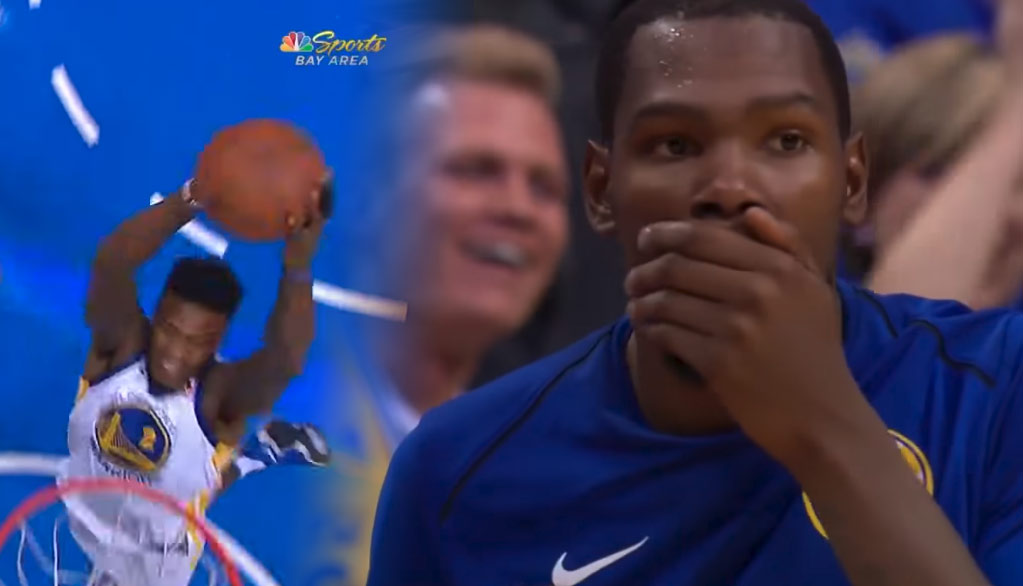 """bb6c9757b1f Dirk to Draymond s Momma s Thoughts On Jordan Bell s """"Disrespectful"""" End Of  The Game Dunk"""