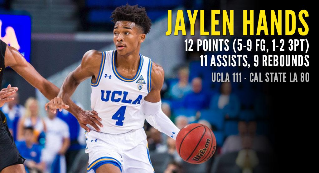 21df131be5c Jaylen Hands Flirts With Triple-Double In UCLA Debut - Ballislife.com