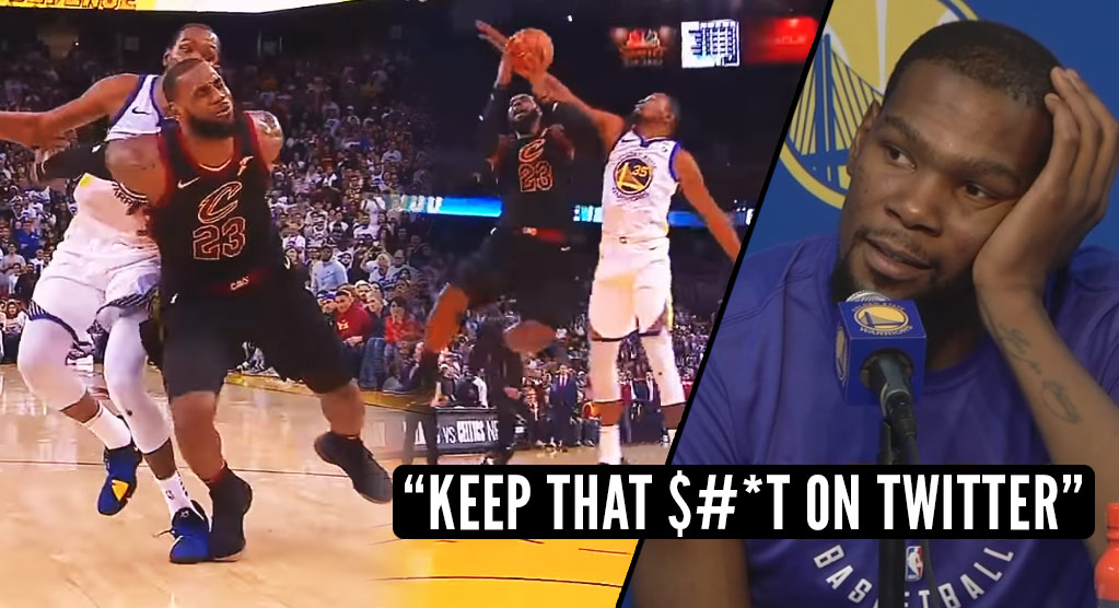 fc9c92f1188f LeBron   Twitter React To Kevin Durant Getting Away With Murder On Christmas  ""