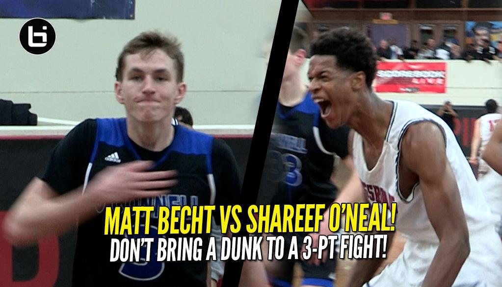 29604d1e3144 Matt Becht Rains Down 5 Threes In One Quarter Vs Shareef O Neal!