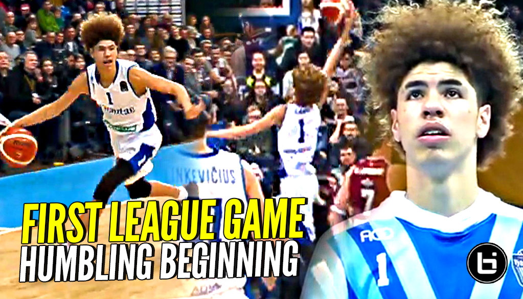 7e1a3aea4963 Humbling Beginning For LaMelo   Gelo Ball in First Lithuanian League (LKL)  Game But