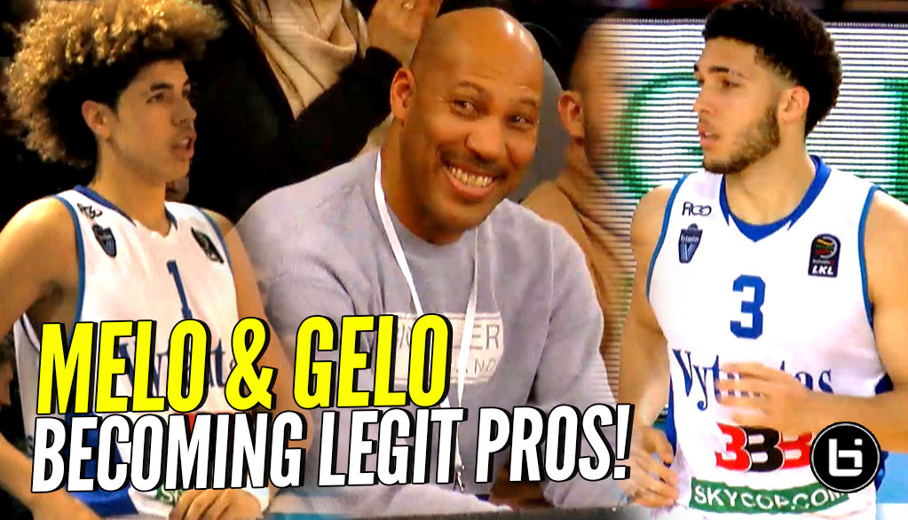21649ae7049e LaMelo   LiAngelo Ball BECOMING LEGIT PROS Now! 3rd League Game In Lithuania !
