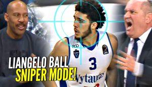 ab4efbb22282 LaMelo Gets NO LOVE  LiAngelo Ball SNIPER Mode Helps Vytautas Get The Big  W!! - Ballislife.com