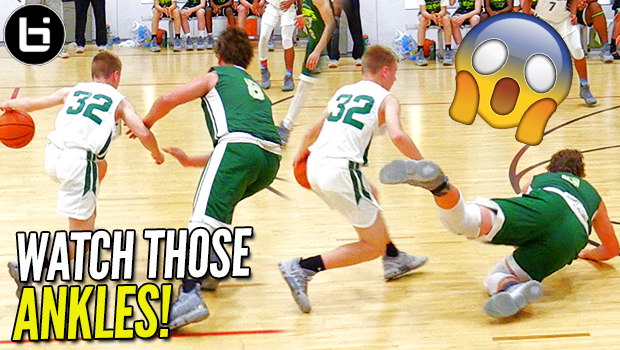 4808fde9594 DEFENDER DROPPED   UNCONSCIOUS FROM DEEP! Drew Cook vs LeBron James Jr. at  G3