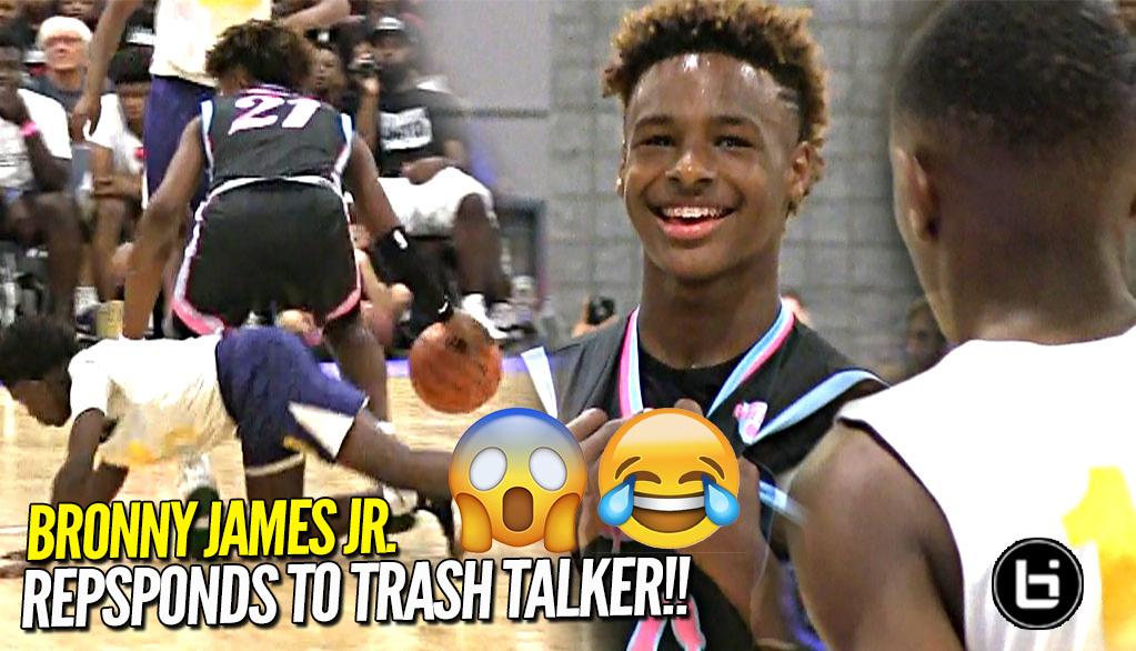 Bronny James Jr RESPONDS to TRASH TALKER at First Day of