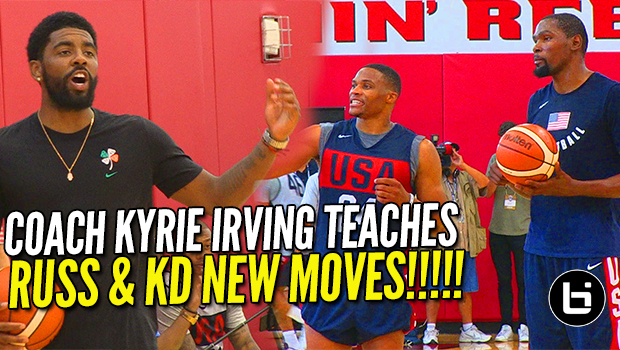 656ff182be7c Kyrie Irving Teaches Russell Westbrook and Kevin Durant New Moves at USA  Basketball!