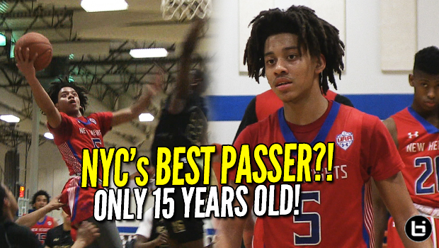 87bc57c6feb NYC's Best Passer?! 15 Year Old Jaquan Carlos is a TRUE POINT GUARD!