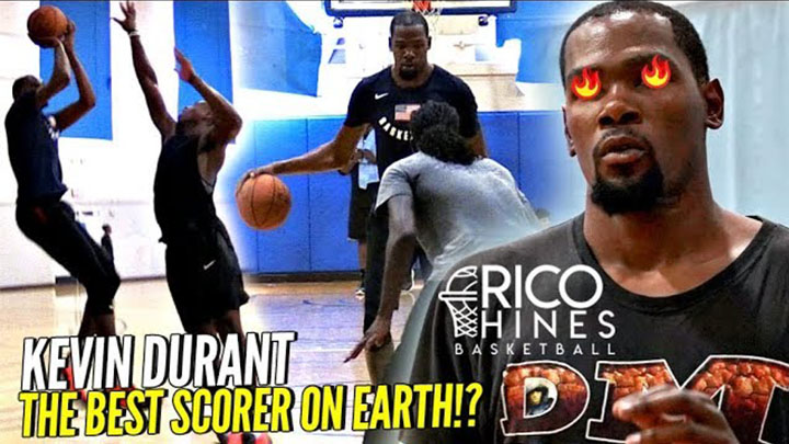 b3faf242dd0b Kevin Durant Shows WHY HE S THE BEST SCORER ON EARTH at Rico Hines Private  Runs!