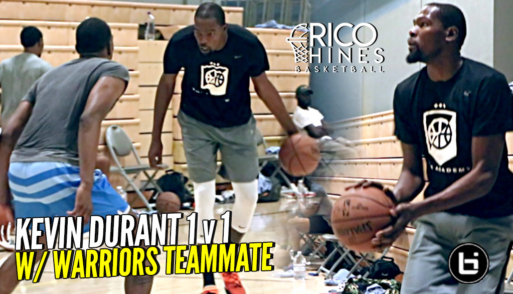 fa8c7a80f818 Kevin Durant 1v1 w  Teammate Kevon Looney at Rico Hines Workout!